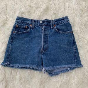Levi's Button Fly 501 Jeans Cutoffs, Size 29